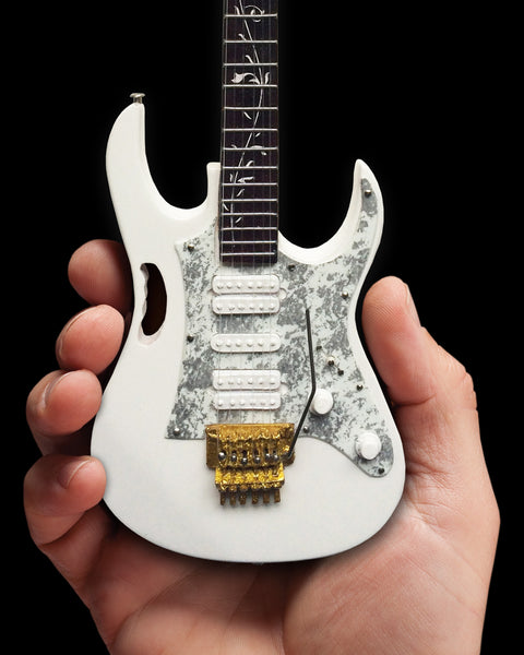 Steve Vai Signature White JEM Miniature Guitar Replica Collectible