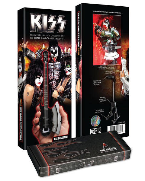 Officially Licensed KISS Gene Simmons Signature AXE Bass Mini Guitar Model