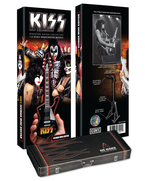 Officially Licensed KISS Logo Paul Stanley Iceman Miniature Guitar Model