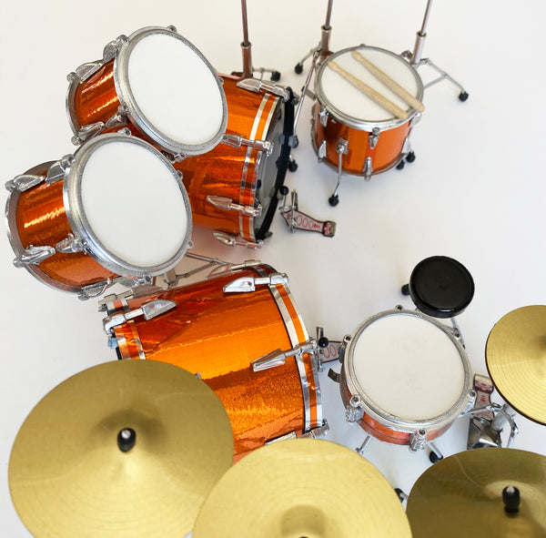 Lars Ulrich Miniature Tama Drum Kit In Magnetic Orange