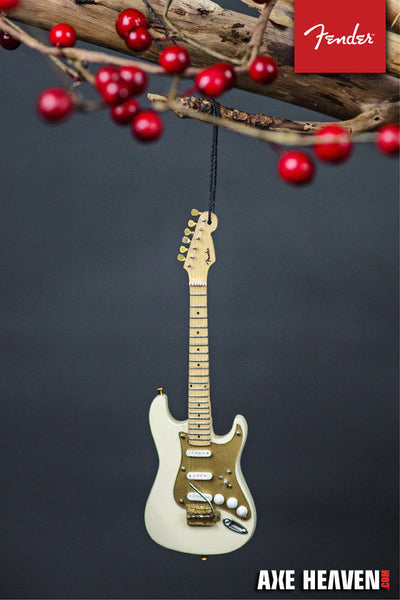 "6"" FENDER 50s Stratocaster Guitar Holiday Ornament – Cream"