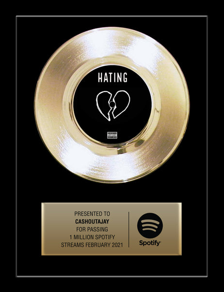 "13"" x 16"" Framed 7"" Gold Record - 45 Single Style Gold Record Rockstar Award"