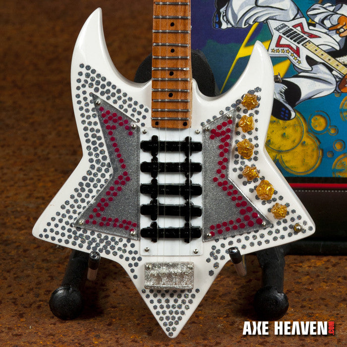 Officially Licensed Bootsy Collins \u201cSpace Bass\u201d Miniature Guitar Replica  Collectible