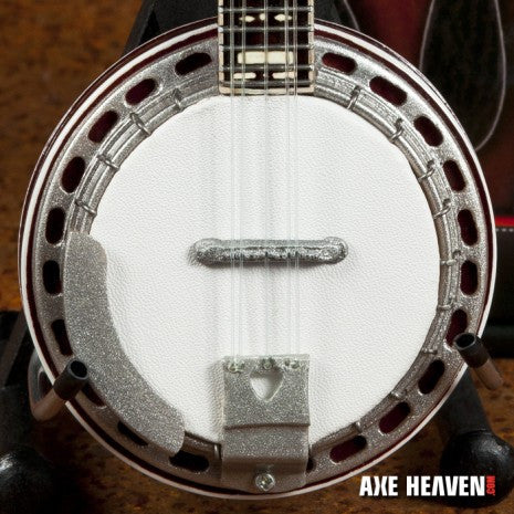 Classic Banjo Miniature Guitar Replica Collectible with Rosewood Back