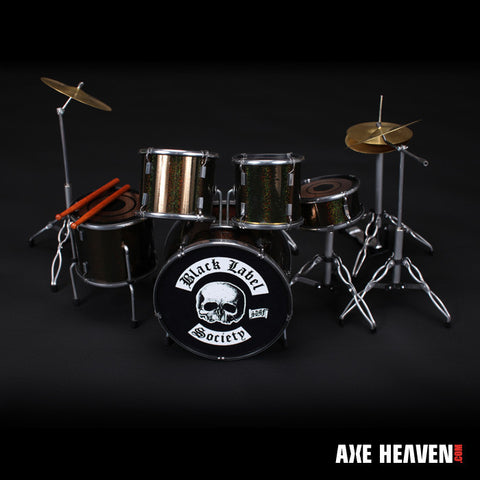 Black Label Society Signature Miniature Drum Set Replica Collectible