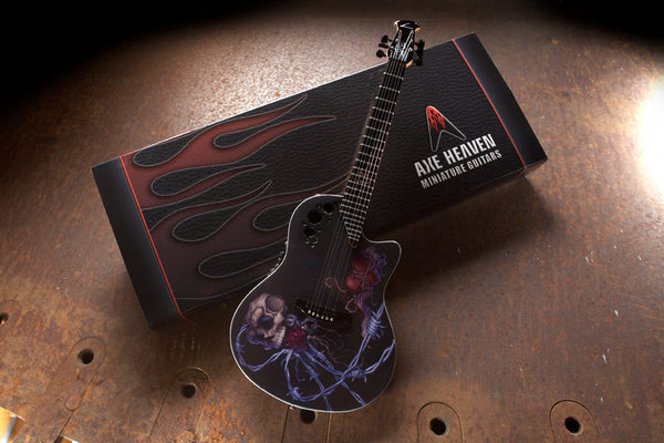 Bone Daddy 2009 DJ Ashba Ovation Demented Series Mini Guitar Replica Collectible