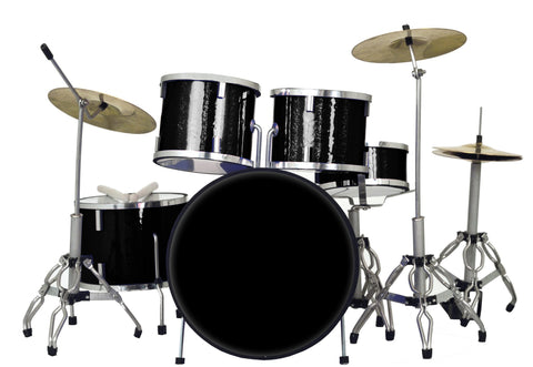 Classic 5-Piece Black Sparkle Drum Set Mini Replica Collectible