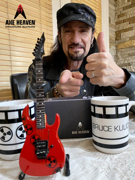 Bruce Kulick B.C. RICH® Radioactive Mini Guitar Replica Collectible