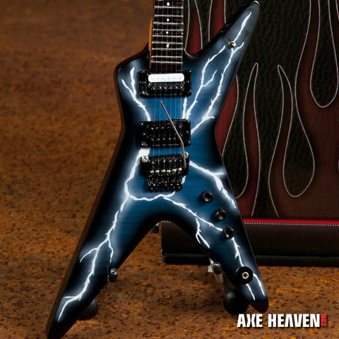 Licensed Dimebag Darrell Signature Lightning Bolt Miniature Guitar Replica