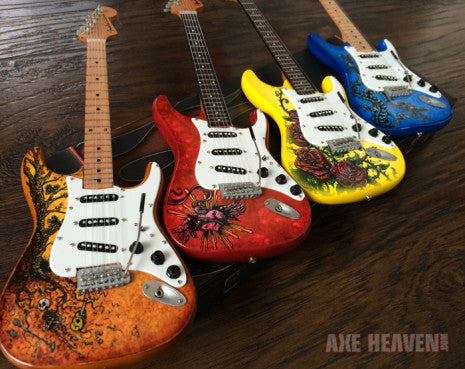 Officially Licensed David Lozeau Set of 4 Mini Fender™ Strat™ Guitar Models