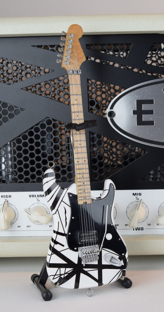 EVH Black & White VH1 Eddie Van Halen Mini Guitar Replica ...Eddie Van Halen Guitar Design