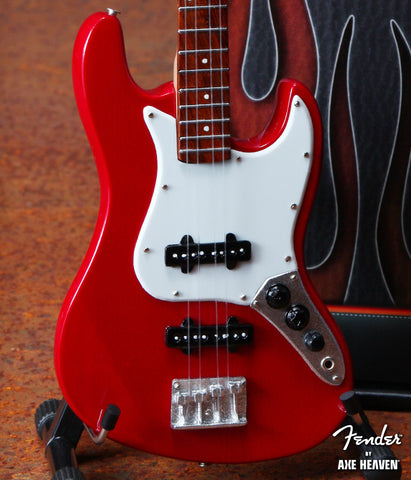 Fender™ Red Jazz Bass™ Miniature Guitar Replica - Officially Licensed