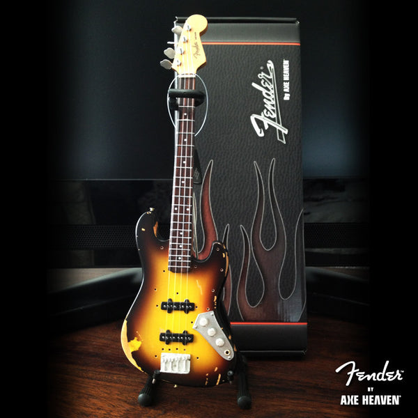 Fender™ Sunburst Jazz Bass™ Custom Shop JACO Mini Guitar - Officially Licensed