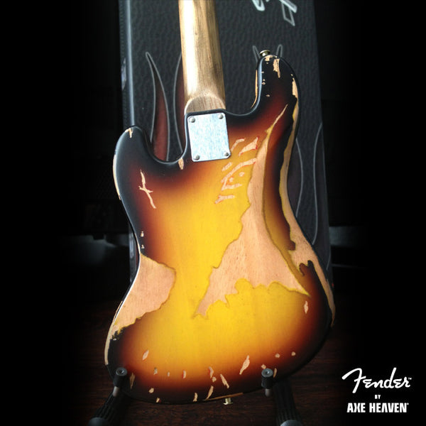 Fender™ Sunburst Jazz Bass™ Custom Shop Mini Guitar - Officially Licensed