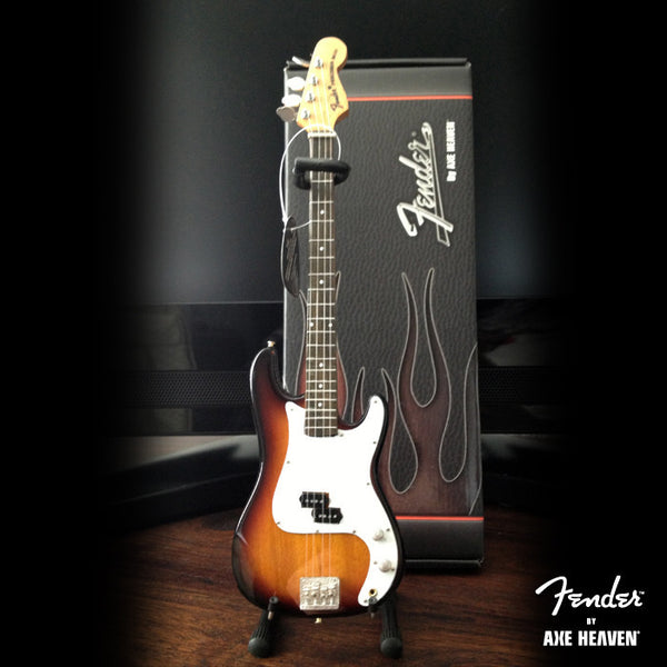 Officially Licensed Miniature Classic Sunburst Fender™ Precision Bass™ Guitar