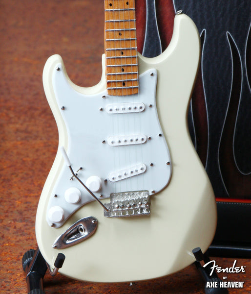 Fender™ Cream Reverse Headstock Strat™ Miniature Guitar Replica - Officially Licensed