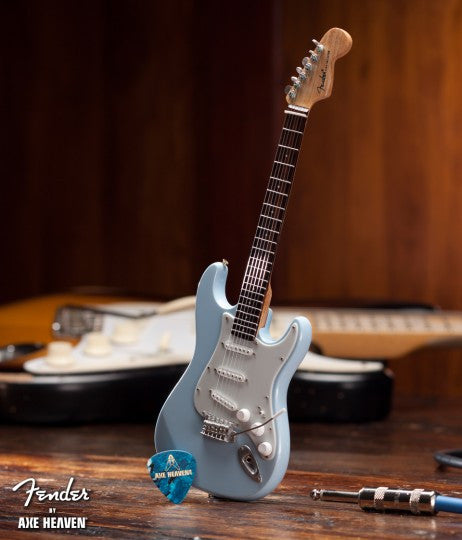 Sonic Blue Fender™ Strat™ Miniature Guitar Replica - Officially Licensed