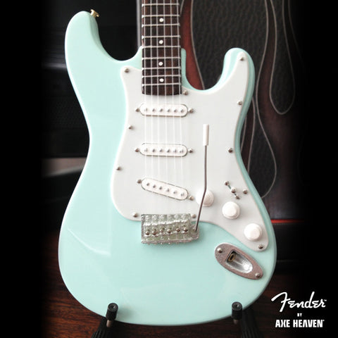 Surf Green Fender™ Strat™ Miniature Guitar Replica -Officially Licensed