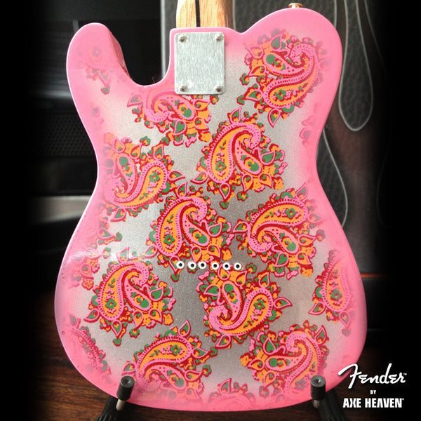 Fender™ Miniature Pink Paisley Telecaster™ Guitar Replica - Officially Licensed