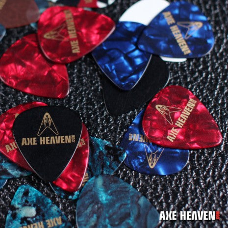 AXE HEAVEN® Celluloid Guitar Pick Variety Pack – 8 Picks