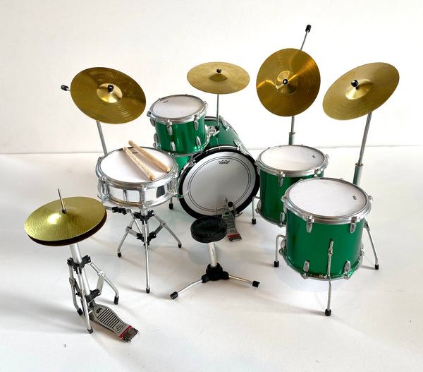 Green Sparkle Tribute Zep Mini Drum Set Replica Collectible