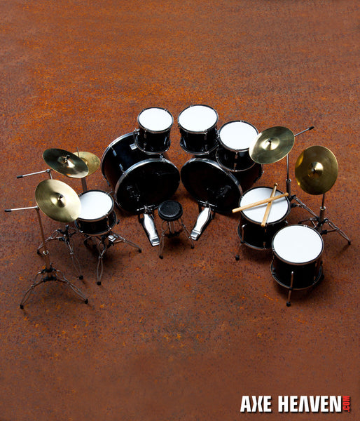 Joey Jordison Signature Miniature Drum Set Replica Collectible