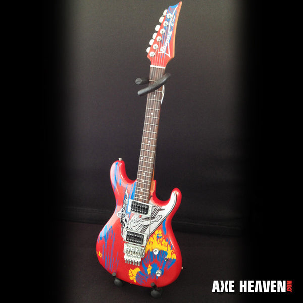 Joe Satriani Signature Silver Surfer Miniature Guitar Replica Collectible