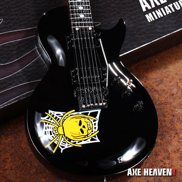 Skull & Spider Web Miniature Guitar Replica Collectible