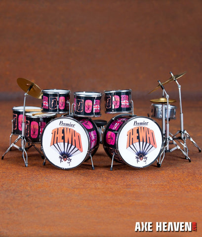 Keith Moon Pictures of Lily Tribute Drum Set Miniature Replica Collectible