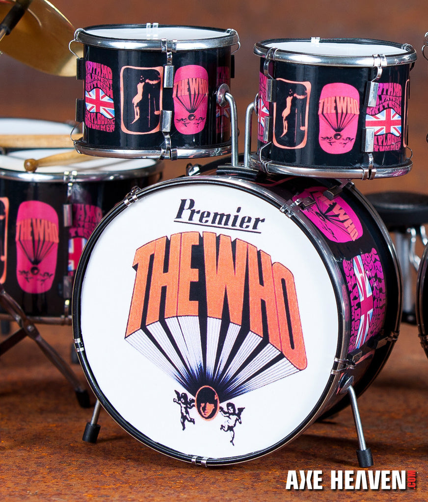 Keith Moon Pictures Of Lily Tribute Drum Set Miniature Replica Collect