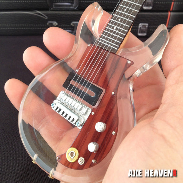 Made Famous by Dan Armstrong See-Through Acrylic Miniature Guitar Replica Collectible
