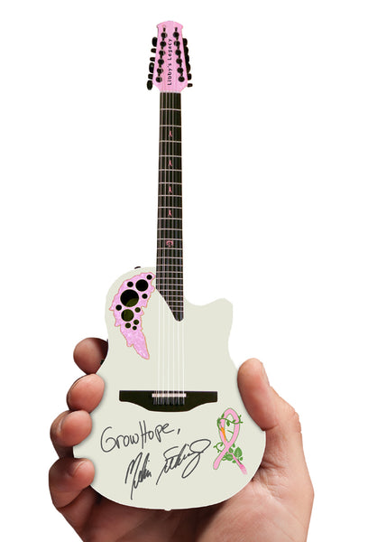 2018 Melissa Etheridge Limited Edition Signature Grow Hope 12-String Ovation Adamas Mini Guitar Replica