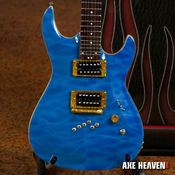 Officially Licensed Neil Zaza Blue NZS-1 Cort Miniature Guitar Replica Collectible