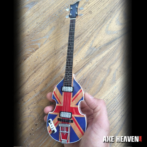 Paul's Union Jack Violin Bass Miniature Guitar Replica - Fab Four