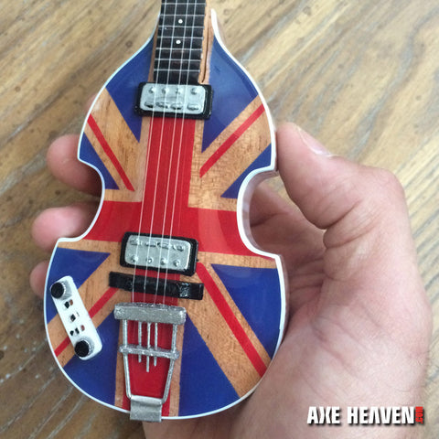 Union Jack UK Flag Violin Bass Miniature Guitar