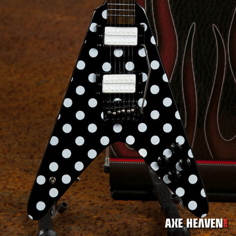 "Randy's ""Harpoon"" Polka Dot Signature Miniature Guitar Replica Collectible"