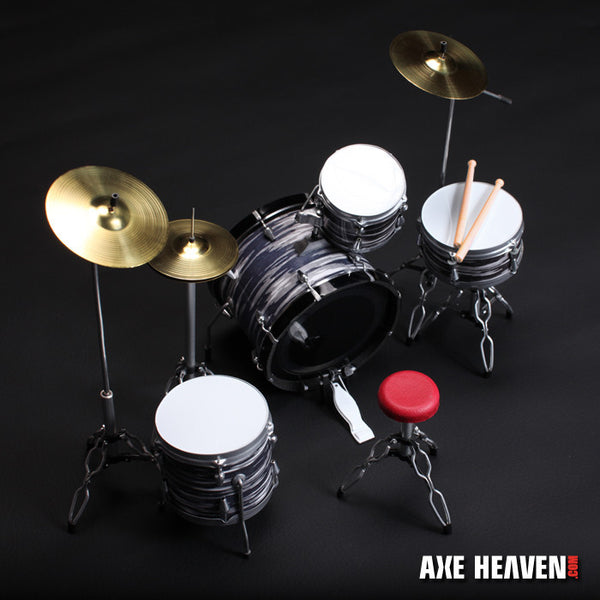 Fab Four Classic Oyster Miniature Drum Set Replica Collectible