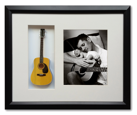 Personalized 22″ x 19″ Mini Guitar Framed Shadow Box
