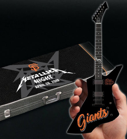 2019 SF Giants Metallica Night Limited Edition & Numbered James Hetfield Mini Guitar Collectible