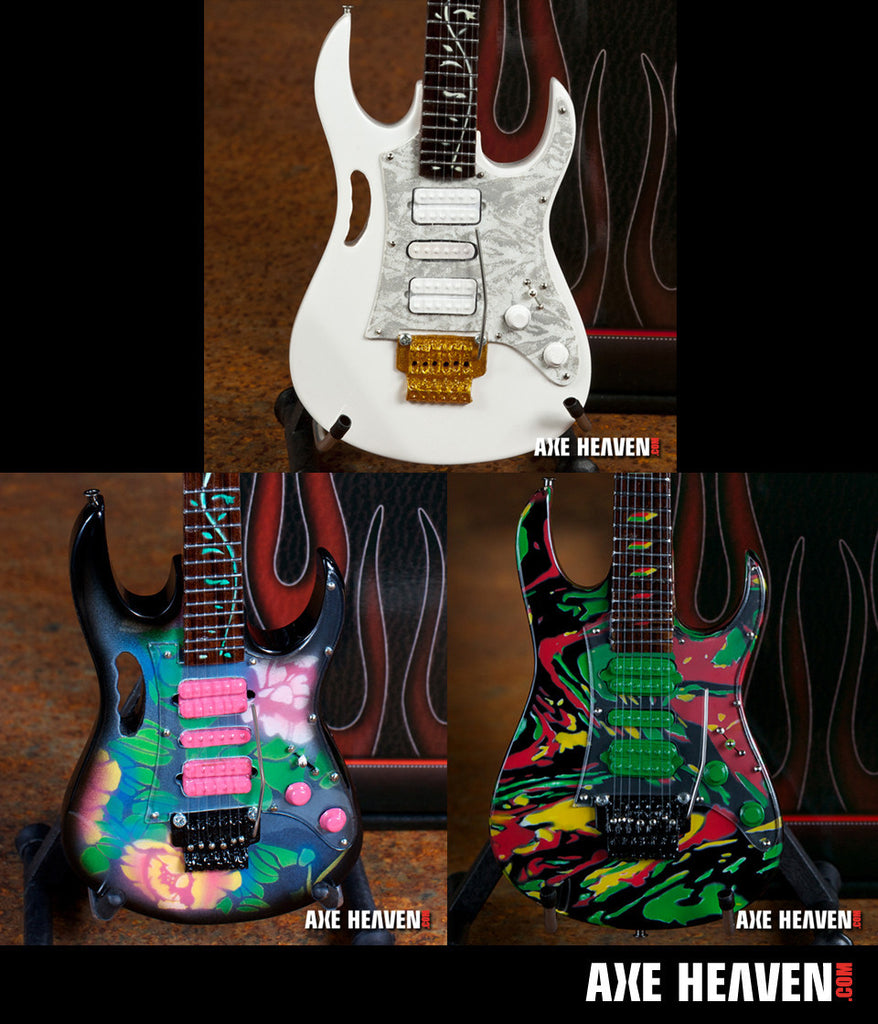 Steve Vai Miniature Guitar Replica Collectible Set of 3 Famous Jem Models