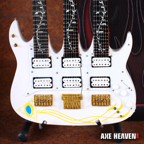 Steve Vai Signature JEM Triple-Neck Miniature Guitar Replica Collectible