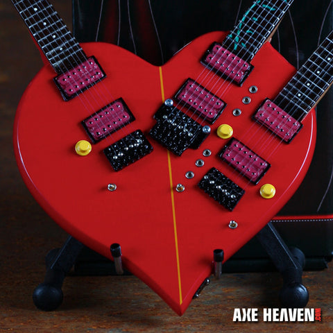 Steve Vai Famous Signature Triple-Neck Heart Miniature Guitar Replica Collectible