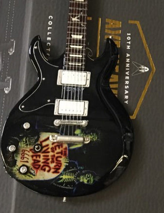 Officially Licensed Zacky Vengeance Living Dead Schecter Mini Guitar Replica Model