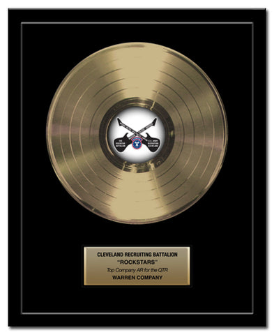 "12"" Gold Record - Basic Framed Rockstar Award - Metalized Gold Record"