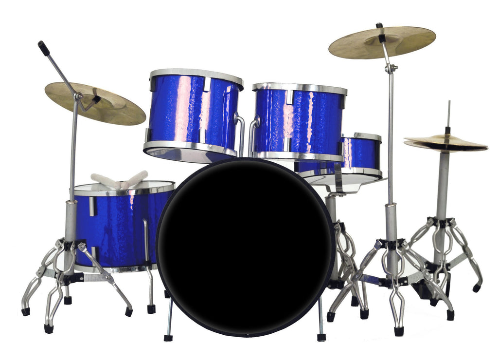 Classic 5-Piece Blue Sparkle Drum Set Mini Replica Collectible