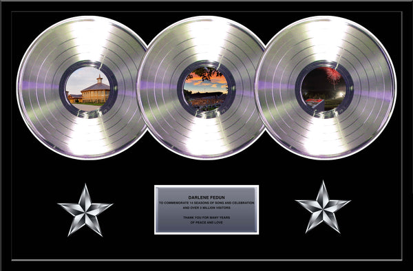 Triple Platinum Album Display 33 1/3 Platinum Record Album Tribute - Custom Imprinted Rockstar Award Platinum Record