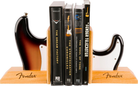 Fender™ Strat™ Body Guitar Bookends - Sunburst Finish