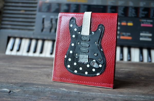 Signature Buddy Guy Polka Dot Guitar Wallet - Handmade - Genuine Leather