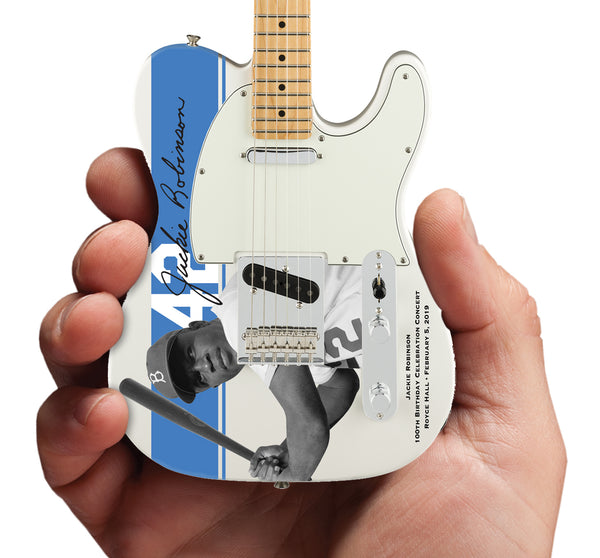 Jackie Robinson 100th Birthday Celebration Concert Limited-Edition Officially Licensed Fender Telecaster Mini Guitar Replica Collectible