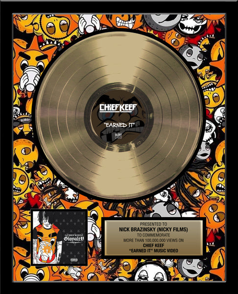 "18"" x 22"" Framed Artist & Band 12"" Gold Record Album Tribute - Metalized Gold Record"